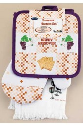 Passover Hostess Set with Pot Holder, Oven Mitt and Towel