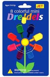 8 Mini Plastic Dreidels