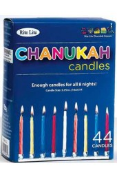 Chanukah Candles Multicolored