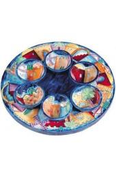 Wooden Passover Seder Plate - Jerusalem