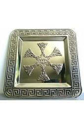 """Square Matzah Plate """"Chen"""""""