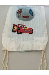 Cars Kids Tzit Tzit (Kippah Option Available)