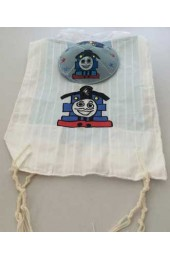 Thomas the Tank Engine Kids Tzit Tzit (Kippah Option Available)