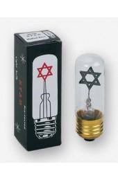 Yahrzeit Star Light Bulb