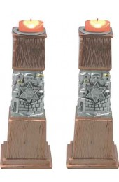Copper Candlesticks Pair