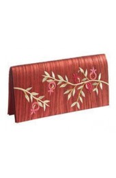 Embroidered Red Evening Bag