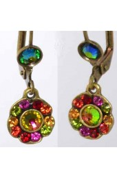 Dandgling Colorful Clusters Israeli Earrings