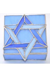 Blue Glass Israeli Jewelry Box