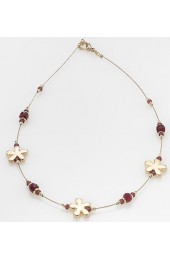 Golden Summer Ruby Israeli Necklace