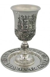Kiddush Cup & Plate Silver Plated
