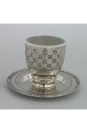 Breslov Kiddush Cup & Saucer Set
