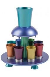 Anodize Aluminum Kiddush Fountain Set