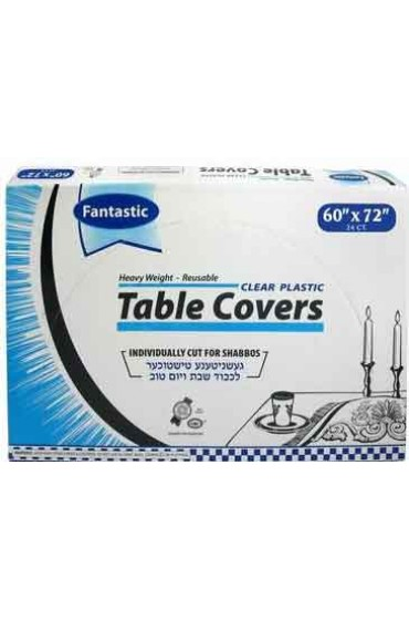 Clear Plastic Tablecovers - 60x72