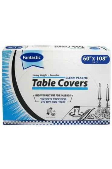 Clear Plastic Tablecovers - 60x108