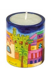 Memorial (Yahrzeit) Candle Holder - Jerusalem