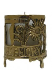 Brass Memorial Candle Holder