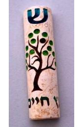 Tree of Life Jerusalem Stone Mezuzah