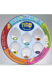 Printed Colorful Laminate Seder Plate with Plastic Liners