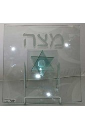 Square Matzah Tray With Pedestal