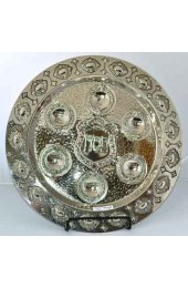 "Large 16"" Silver Pesach Plate Round"