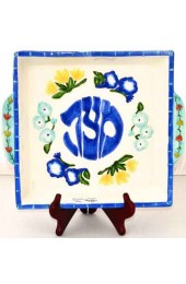 Matzah Plate With Flowers