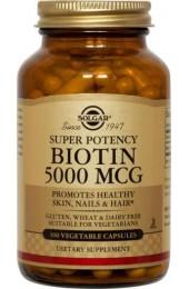 Biotin 5000 mcg Vegetable Capsules  (100)