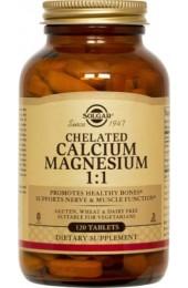 Chelated Calcium Magnesium 1:1 Tablets (120)
