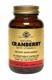 Natural Cranberry with Vitamin C Vegetable Capsules (60)
