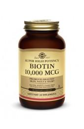 Biotin 10,000 mcg Vegetable Capsules (120)