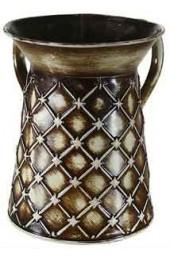 Tin Wash Cup - Diamond Design