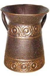 Tin Wash Cup with Circles Design