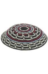 Black Design Knitted Kippah