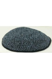 Black and Blue Knitted Kippah