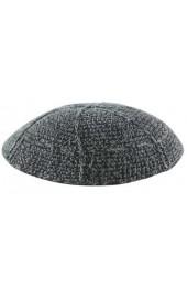 Black & Grey Knitted Kippah